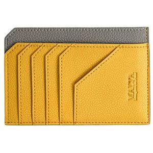 [MALTA] 財布 レディース 薄い 革 牛革 フラグメントケース スリム 小銭入れ 小さい財布 薄型 ミニ財布 極小 (イエロー)|merock