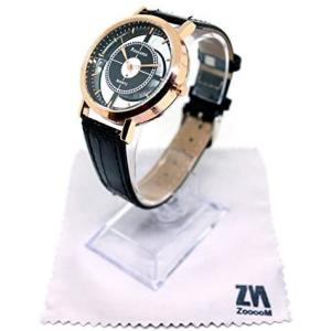 ZooooM 腕 時計 CROSS FACE クロス フェイス ユニーク デザイン 文字盤 アナログ ウォッチ オリジナル クロス 付き(ブラック)|merock
