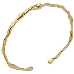 aBALENT(アバレント)バングル メンズ シルバー ゴールド シンプル シルバー925 くねくね 上品 ねじり ツイスト メンズ (ゴールド)|merock