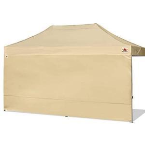 ABCCANOPY サイドシート(横幕) タープテント用 2.5m/3m/4.5m/6m専用 防水タープシート (ベージュ 2.5m)|merock