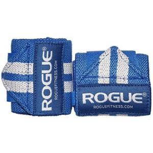 ROGUE FITNESS ローグ リストラップ 24インチ CrossFit クロスフィット フリーウェイト (ブルー×ホワイト) [並行輸入品] merock