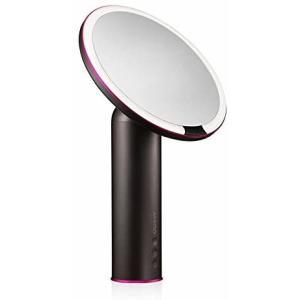 AMIRO LED化粧鏡 人感センサー付き 化粧ミラー LEDライト付き 卓上鏡 女優ミラー 3段階明るさ調節可能 コードレス 充電式 (ブラック) merock