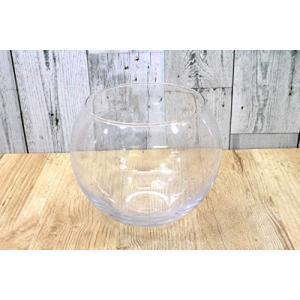 グラススクエア テラリウム 観葉植物 インテリア アクアリウム 金魚鉢 花瓶 バブルボール L H16×直径18cm (クリア Large)|merock