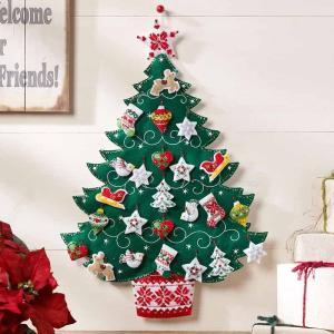 「NORDIC TREE ADVENT CALENDAR」《日本語基本ガイド付き》Bucilla  ブシラ クリスマス ハンドメイド フェルト アドベントカレンダーキット アップリケ