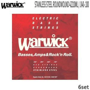 ベース弦 ワーウィック 40-100 42210ML 6set ミディアムライト ステンレス弦 Warwick|merry-net