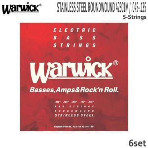 5弦ベース弦 ワーウィック 45-135 42301M 6set ミディアム ステンレス弦 Warwick|merry-net
