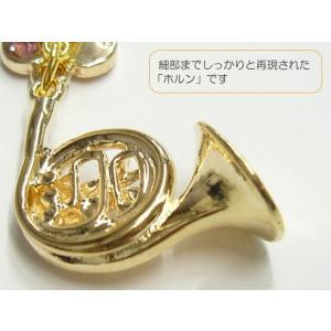 【携帯ストラップ】立体吹奏楽部ストラップ ホルン (立体楽器 金管楽器  72094-8) merry-net 03
