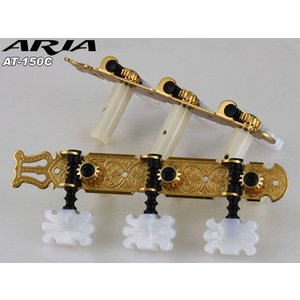 Aria ギターペグ クラシックギター用 AT150C ゴールド アリア|merry-net