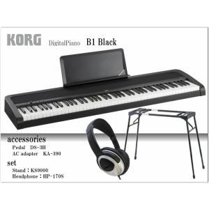 コルグ 電子ピアノ B1 ブラック【テーブル型スタンド&ヘッドフォン付】KORG B1-BK|merry-net