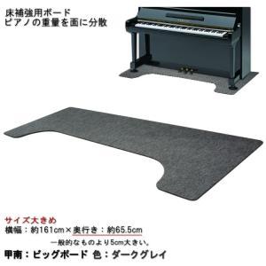 【大きめサイズ161cm×65cm】ピアノ用 床補強ボード:甲南 ビッグボード BB ダークグレイ|merry-net