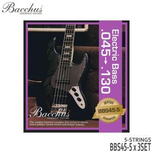 5弦ベース弦 バッカス 45-130 BBS45-5 3セット Bacchus|merry-net