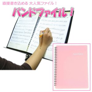 BandFile(バンドファイル) 20ポケット(楽譜40ページ分)ピンク merry-net