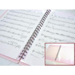BandFile(バンドファイル) 20ポケット(楽譜40ページ分)ピンク merry-net 02