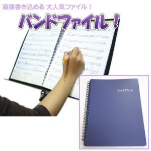 BandFile(バンドファイル) 20ポケット(楽譜40ページ分)パープル|merry-net