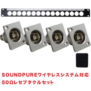 CANARE カナレ 50Ωリセプタクルコネクター4個+パネルセット|merry-net