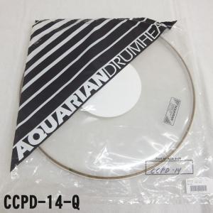 アクエリアン ドラムヘッド(クリアヘッド)(AQUARIAN)タムタム用CCPD-14-Q(CCPD14Q)14インチサイズ(ドット付き)【TH】 merry-net