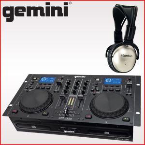 gemini (ジェミナイ) CDJプレイヤー CDM-4000 [DJ向きステレオヘッドホン付きセット]|merry-net