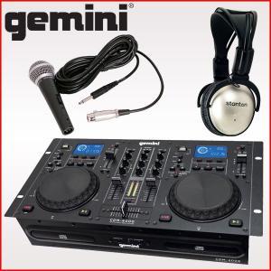 gemini (ジェミナイ) CDJプレイヤー CDM-4000 [ステレオヘッドホン/ダイナミックマイク付きセット]|merry-net