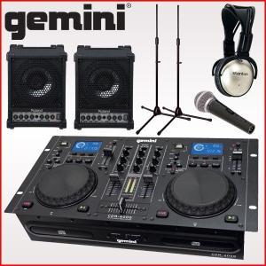 gemini (ジェミナイ) CDJセット CDM-4000 [ヘッドホン/多目的アンプ×2/マイクスタンド×2]|merry-net