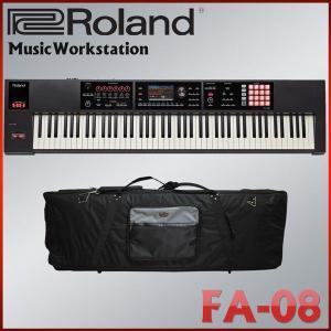 Roland ローランド FA-08 シンセサイザー 背負える汎用キーボードケース付き キーボードセット|merry-net