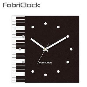 ファブリックロック(ファブリック時計) FabriClock ピアノ 鍵盤柄  (掛け時計)|merry-net