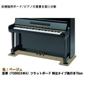 【ワイドタイプ】ピアノ用 床補強ボード:吉澤 フラットボード ベージュ|merry-net