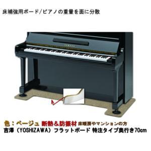【ワイドタイプ】ピアノ用 防音&断熱タイプ 床補強ボード:フラットボード静 ベージュ merry-net