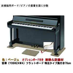 【ワイドタイプ】ピアノ用 防音&断熱&床補強+補助ボード:フラットボード静 ベージュ merry-net