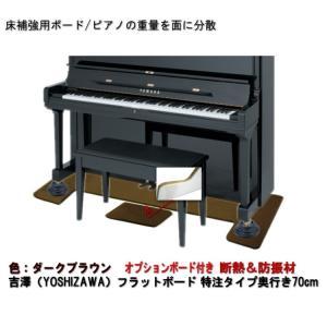 【ワイドタイプ】ピアノ用 防音&断熱&床補強+補助ボード:フラットボード静 ブラウン|merry-net