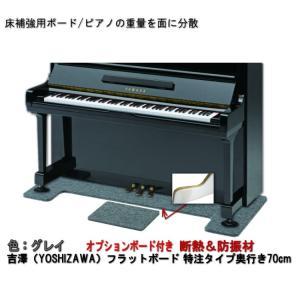 【ワイドタイプ】ピアノ用 防音&断熱&床補強+補助ボード:フラットボード静 グレイ merry-net