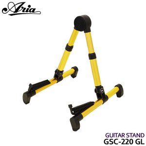 Aria アルミ製折りたたみギタースタンド GSC220 GL エレキギター アコギ|merry-net