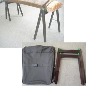 13弦お琴用 折りたたみ式立奏台-ソフトケース...の詳細画像1