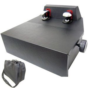 ピアノ補助ペダル ソフトケース付き ピアノ用 ペダル付き足台 M-60