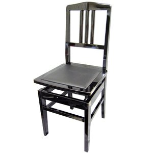 ピアノ椅子 トムソン椅子 NO.5BLK 黒色 背もたれ付きタイプ|merry-net
