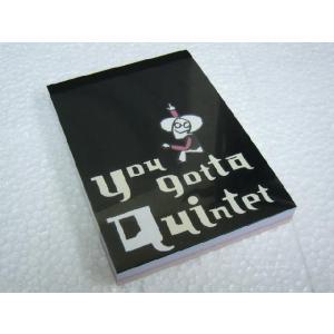 You gotta Quintet(クインテット) A7 メモ帳 4種類の柄  小型便対応(5点まで)|merry-net