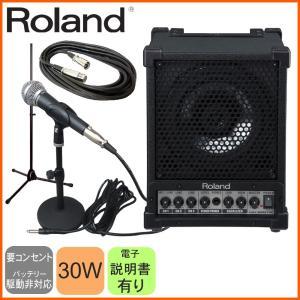 有線マイク1本・出力30W会議スピーカーセット Roland クリアーな音質の多目的スピーカーCM-30|merry-net