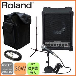 ダイナミックマイク1本/キャリングケース付き スピーカーセット Roland CM-30|merry-net
