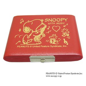 SNOOPY スヌーピー リードケース アルトサックスレッド 5枚用|merry-net