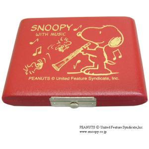 SNOOPY スヌーピー リードケース B♭クラリネットレッド 5枚用|merry-net
