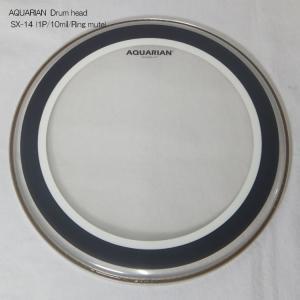 アクエリアン ドラムヘッド(クリアヘッド)(AQUARIAN)タムタム用SX-14(SX14)14インチ(リングミュートヘッド)Studio-X【TH】 merry-net