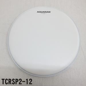 アクエリアン ドラムヘッド(2プライ・コーテッドヘッド)(AQUARIAN)タムタムなど多用途に最適 TCRSP2-12 12インチ(マーチングドラムの小太鼓などにも) merry-net