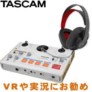 ヘッドマイク付き TASCAM オーディオインターフェイス US-42W ゲーム実況セット|merry-net