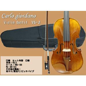 バイオリン 初心者 カルロジョルダーノ  VS-2 4/4 入門 6点セット|merry-net