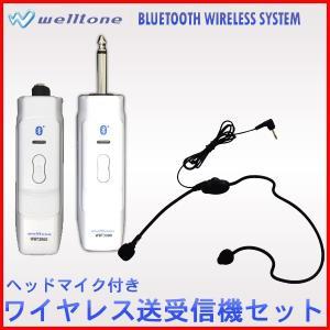 ワイヤレスマイク 送受信機セット ヘッドマイク付き Welltone WBT2030 + WEM4000