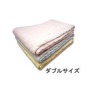 敷きパット ダブルサイズ 綿 マイヤー 敷きパッド ピンク ブルー イエロー 敷布団用 敷パットの写真