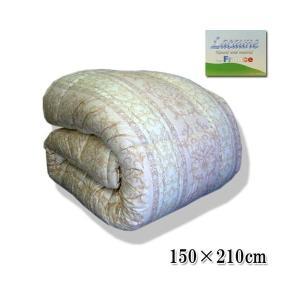 【送料無料】合い掛け布団 シングル◆フランス産ウール100% 肌掛ふとん ほどよい厚み 羊毛 色柄込の写真