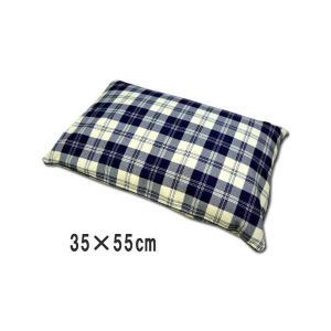 全ソバ枕 35×55cm 日本製 まくら 柄おまかせ ブルー 快眠そばがら枕
