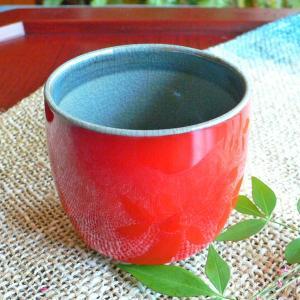 湯飲み コップ(大) レッドシアター「陽炎」 ギフト  贈り物 お誕生日プレゼント 還暦祝い【陶房 京千】|merusa