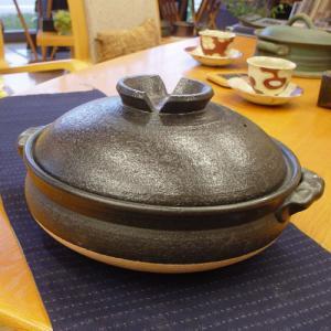 土鍋 10号 (5〜6人用) 信楽焼土なべ|merusa