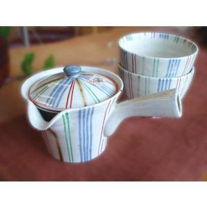 【母の日・結婚祝い・内祝い・ギフト】長十郎窯の楽らく急須 湯飲みセット【結婚祝い 誕生日祝い 内祝い】|merusa